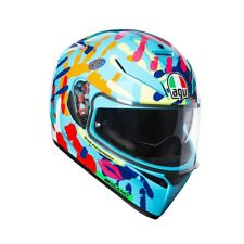 CASCO AGV K3 SV Misano 2014 plk color: Azul/rojo/AMARILLO Talla: ml (58)