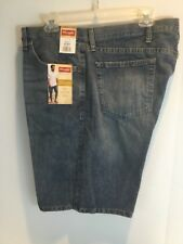 New Men's Wrangler Relaxed Fit Denim Light Blue Jean Shorts Size 40