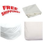 DMI Zippered Plastic Mattress Cover Protector, Waterproof, Twin Size, White