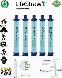 Life-Straw Personal Water Filter Straw for Hiking....Emergency Survival Gear New