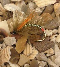 4 Size 10 Olive Mirror Flash Snatcher Orange Biots Loch Style  Trout Flies