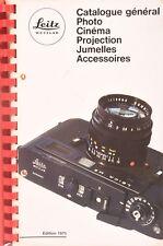 Leitz Catalogue general,photo,cinema,projection,binoculars,accessories. 1975