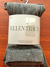 NWT Ellen Tracy Black Denim Fashion Leggings S/M Poly/Cotton ET4018 $24