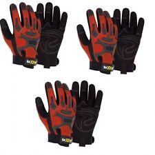 hochwertige Mechaniker-Handschuhe rot/schwarz texxor Kunstleder