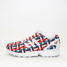 newest 90db0 572f9 Womens Adidas ZX Flux White Multi-Coloured Trainers RRP £59.99