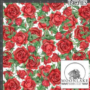 Rose Cascade Fabric 100% Quality Cotton Poplin Fabric * Exclusive *