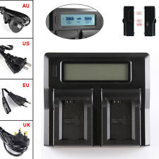 LCD Display Dual Battery Charger For SONY NP-FW50 NEX 7 5 3 A6300 A7 A7R II RX10