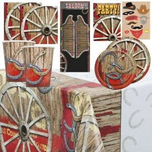 Rodeo Western Cowboy Party Supplies Tableware, Balloons & Decorations
