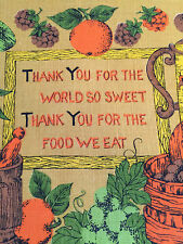 Vintage 1974 Calendar Towel Thank You For The World So Sweet