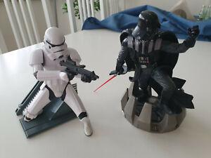 Star Wars Unleashed Stormtrooper/Han Solo und Darth Vader Figur Hasbro 1:10