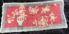 Early 20th Cent. Hooked Rug - Unique Fauvist Still Life Design