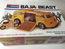 Monogram 1/24 7527 Baja Bestia Surf & ciclo van Vintage 1994 Modelo Kit Muy Raro