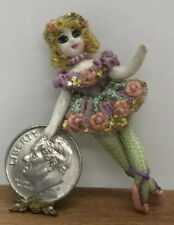 Dollhouse Miniatures Handcrafted Verity's Dolls Porcelain Blonde Doll Ballerina
