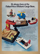 1980 Fisher-Price Offshore Cargo Base toy vintage print Ad
