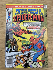 Peter Parker The Spectacular Spiderman #1 1976 Excellent Condition