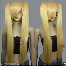 Heath stylable Beige Blonde Cosplay DNA Wig with Clip-on Ponytail + gift