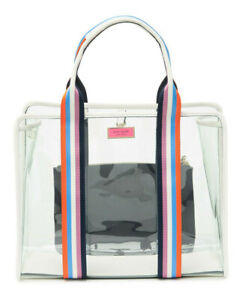 Kate Spade Sam See-Through Large Clear Tote w/ pouch ~NWT~