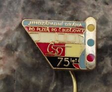 Czech Railway CSD Train Engine 75th Anniversary Plzen Budejovice Link Pin Badge