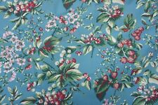 Vintage Laura Ashley Floral Raspberry Strawberry Summer Print 100% Cotton Fabric