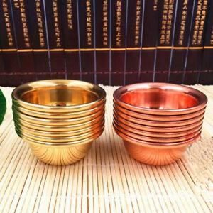 7x Tibet Tibetan Buddhist Copper Water Offering Bowl Divine Focus Ritual Vessel
