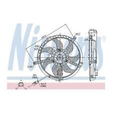 Fits Mini One Clubman R55 1.6 Genuine Nissens Engine Cooling Radiator Fan
