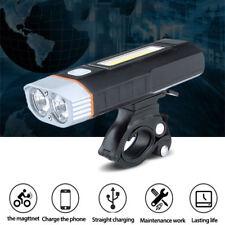 2LEDs Bicycle Headlight USB Rechargeable Cree Magnetic Bike Light Flashlight