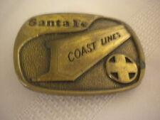 Vintage Brass Belt Buckle 1978 Santa Fe Coast Line BTS