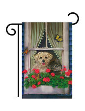 "Faithfully Yours Dog Printed in Usa (13"" x 18"" Approx) Garden Size Flag Tg 60056"