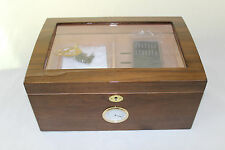 large wooden cigar humidor box -  206