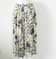 Gerry Weber Maxi Summer Skirt Size L Multi-color Pleated Flared Animal pattern