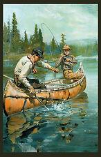 "1912 Philip R. Goodwin, Print, Fishing scene, Vintage Southwestern ART, 17""x11"""