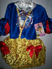 SNOW WHITE Couture Balloon Skirt Disguise Dress Up EXCLUSIVE costume + WIG Med