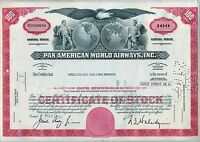 Pan American World Airways Stock Certificate Airline AM