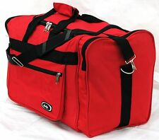 """21"""" 40LB. CAPACITY RED  DUFFLE BAG/ GYM BAG / LUGGAGE/ CARRY ON /SUITCASE"""
