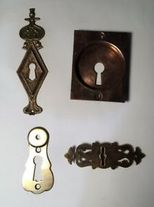 Antique Large Key Hole Escutcheon, Solid Brass, Price For One Each You Choose