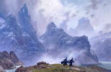The Blue Wizards Journeying East  Limited Print by Ted Nasmith Hobbit Tolkien