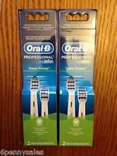 4 ORAL-B Deep Sweep Replacement Toothbrush Tooth Brush Heads Refills Triaction