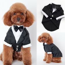 Dog Wedding Clothes Costume Bow Tie Cat Party  Pet Suit Puppy Coat Apperal