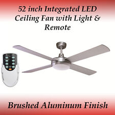 52 inch 4 Blade Silver LED Ceiling Fan with 24 Watt LED Panel and Remote