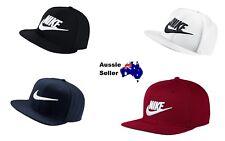 New Nike Flat Peak Black White Burgundy Baseball Cap Hat Snapback OFSM 3 Styles