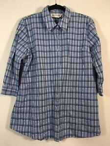 MOTHERHOOD Top Women Size Large Blue Button Front Shirt
