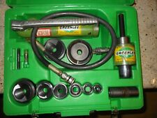 Greenlee 7646 A Hydraulic Knockout Punch Driver Set 12 3 767 A Pump And Ram