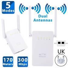 Wifi Booster Amplifier Wireless Range Extended Internet Signal Range 300Mbps UK