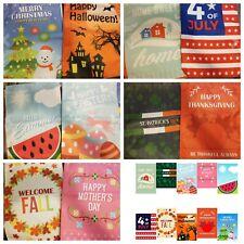 "10 Seasonal Garden Flag Set of 12"" x 18"" Printed On Both Sides"