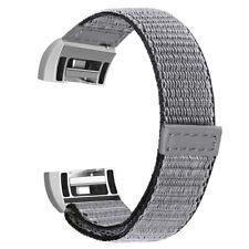 Fitbit заряда 2-полосный мягкая нейлоновая замена ремень браслет-повязка на запястье петли новые