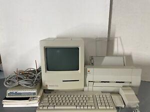 Vtg Apple Macintosh Classic Computer M1420 w/Keyboard II Mouse Stylewriter