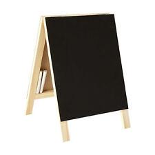 A Frame Chalkboard Blackboard Chalk Black Notice Board Double Sided 30x25cm Wood