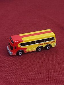 Vintage Micro Machines Galoob Tri- Valley Bus Red/Yellow