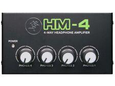 Mackie Hm-4 amplificador de auriculares. 1 entrada y 4 salidas
