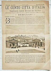 1889 LE CENTO CITTA' D'ITALIA BERGAMO